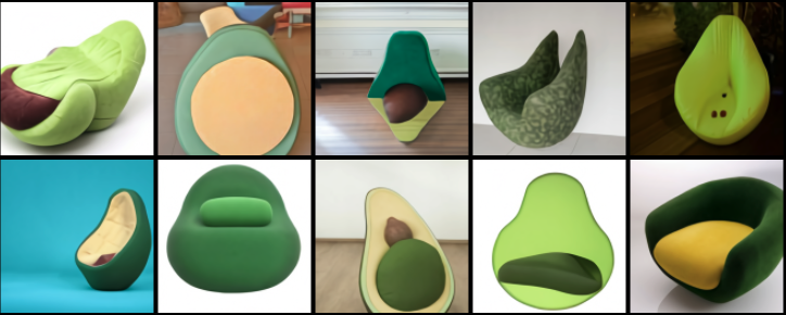 AI shows what an avocado armchair looks like